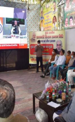 मंत्री कृष्णपाल गूर्जर ने फर्जी किसानों के साथ देखा मोदी का लाइव प्रसारण  पलवल जाने की हिम्मत नहीं जुटा सके,
